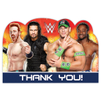 WWE Die-Cut Thank you Cards - 6 PKG/8