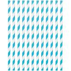 Caribbean Blue Paper Straws 19cm - 12 PKG/24