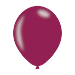 "Metallic Burgundy Latex Balloons 11""/27.5cm - 10PKG/10"