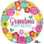 Grandma Floral Standard HX Foil Balloons S40 - 5 PC