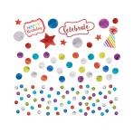 Rainbow Sequin Foil & Paper Confetti 34g - 12 PC