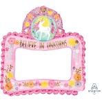 Magical Unicorn Inflatable Foil Selfie Frames G20 - 6 PC