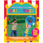 Ball Toss Clown Inflatable Party Games - 3 PKG