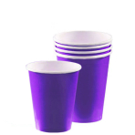 New Purple Paper Cups 266ml - 6 PKG/20