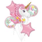 Magical Unicorn Foil Balloon Bouquets P75 - 3 PKG/5