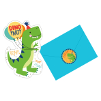 Dino-Mite Party Postcard Invitations - 6 PKG/8