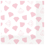 Team Bride Luncheon Napkins 33cm - 6 PKG/16