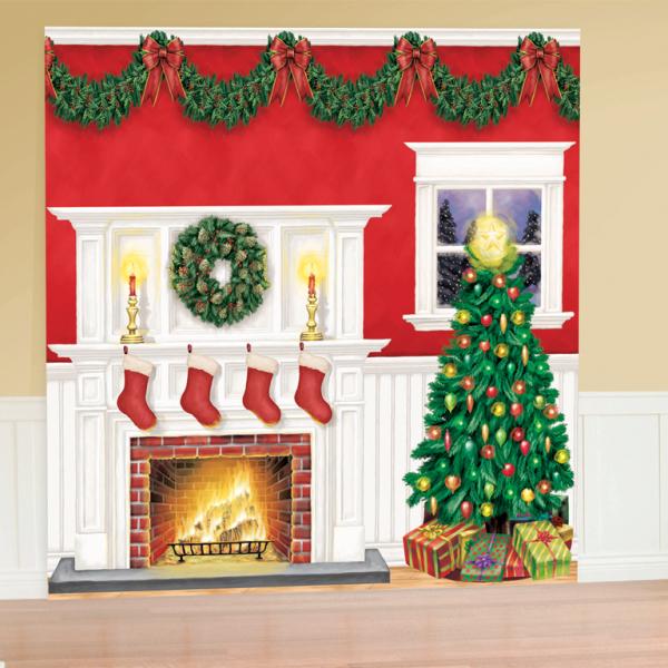 Cubicle Decorating Kits >> Christmas Scene Setters - 4 PKG/6 : Amscan International