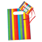 Rainbow Loot Bags & Tags - 6 PKG/8