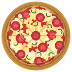 Pizza Party Paper Plates 23cm - 12PKG/8