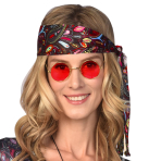 Red Hippie Glasses - 1 PC