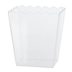 Clear Medium Plastic Scalloped Containers 15.2cm - 18 PC