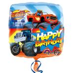 Blaze Happy Birthday Standard Balloons S60 - 5 PC