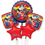 DC Super Hero Girls Bouquet Foil Balloons P75 - 3 PC