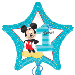 Mickey Mouse 1st Birthday Standard Foil Balloons S60 - 5 PC