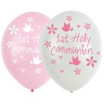 "Communion Church Pink Latex Balloons 11""/27.5cm - 6 PKG/6"