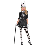 Dark Mad Hatter Costume - Size 10-12 - 1 PC