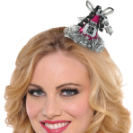 Jewel Tone Foil Happy New Year Hairclip Hats - 9 PC