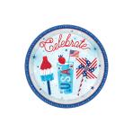 Celebrate USA Paper Plates 18cm - 12 PKG/18