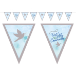 Blue First Holy Communion Pennant Banners 4m x 19cm - 6 PC