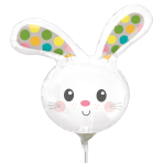 Spotted Bunny Mini Shape Foil Balloons A30 - 5 PC