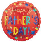 Father's Day Stars Standard Foil Balloons S40 - 5 PC