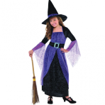 Girls Pretty Potion Witch Costume - Age 8-10 Years - 1 PC