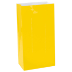 Yellow Mini Paper Bags - 12 PKG/12