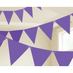 Purple Paper Pennant Banners 4.5m - 6 PC