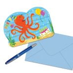 Ocean Buddies Postcard Invitations - 6 PKG/8