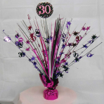 Pink Sparkling Celebration 30th Spray Centrepieces 33cm - 6 PC