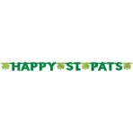 Happy St. Pats Letter Banners 2.43m - 12 PC