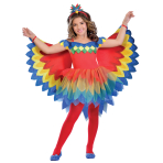 Pretty Parrot Fairy Costume - Age 7-8 Years - 1 PC