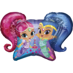 "Shimmer & Shine SuperShape Foil Balloons 31""/78cm x 22""/55cm P38 - 5 PC"