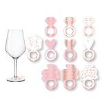 Team Bride Prosecco Glass Markers - 6 PKG/8