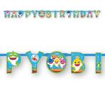 Baby Shark Happy Birthday Letter Banners 1.8m x 13cm - 6 PC