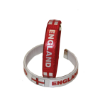 England Day Fabric Bracelets  - One size fits most - 12 PKG/2