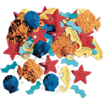 Sea Life Embossed Metallic Mix Confetti 14g - 12 PC