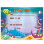 Thank you Card Fill in - Under the Sea - 6 PKG/8