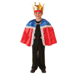 Children Kings Cape & Crown Costume - Age 3-7 years - 1 PC