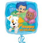Bubble Guppies Birthday Standard Square Foil Balloons - S60 5 PC