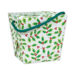 Holly Paper Quart Pails - 12 PC