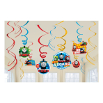 Thomas & Friends Swirl Decorations - 6 PKG/12