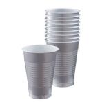 Silver Plastic Cups 355ml - 10 PKG/10