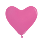 "Fashion Colour Heart Solid Fuchsia 012 Latex Balloons 6""/15cm - 100 PC"