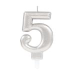 Silver Metallic Finish Candles #5 - 12 PC