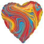 Marblez Colourful Heart Standard HX Foil Balloons S15 - 5 PC