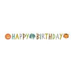 Get Wild Happy Birthday Letter Banners 1.8m x 15cm - 6 PC