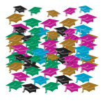 Graduate Mini Hat Confetti - 12 PC