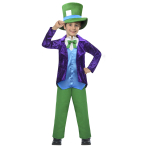 Top Hatter Costume - Age 7-8 Years - 1 PC